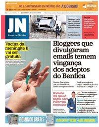 capa Jornal de Notícias de 11 outubro 2018