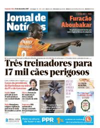 capa Jornal de Notícias de 11 dezembro 2017
