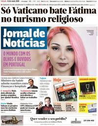 capa Jornal de Notícias de 12 maio 2018