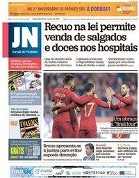 capa Jornal de Notícias de 12 outubro 2018