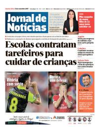 capa Jornal de Notícias de 13 setembro 2017