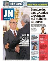 capa Jornal de Notícias de 13 outubro 2018