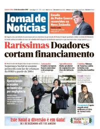 capa Jornal de Notícias de 13 dezembro 2017