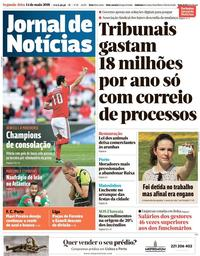 capa Jornal de Notícias de 14 maio 2018