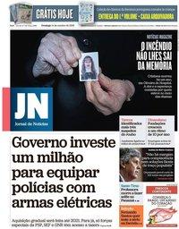 capa Jornal de Notícias de 14 outubro 2018