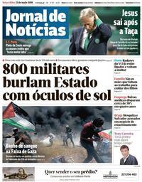 capa Jornal de Notícias de 15 maio 2018