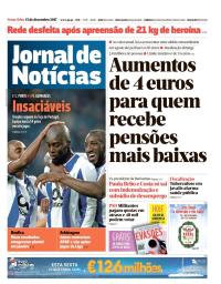 capa Jornal de Notícias de 15 dezembro 2017