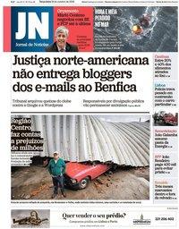capa Jornal de Notícias de 16 outubro 2018