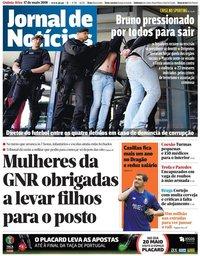 capa Jornal de Notícias de 17 maio 2018