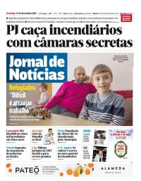 capa Jornal de Notícias de 17 dezembro 2017