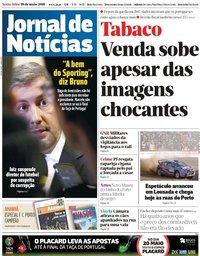 capa Jornal de Notícias de 18 maio 2018