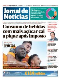 capa Jornal de Notícias de 18 setembro 2017