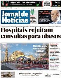 capa Jornal de Notícias de 19 maio 2018