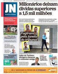 capa Jornal de Notícias de 19 outubro 2018