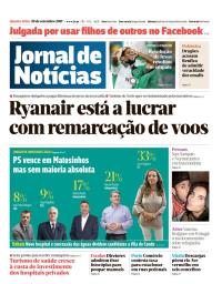 capa Jornal de Notícias de 20 setembro 2017