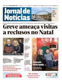 capa Jornal de Notícias de 20 dezembro 2017