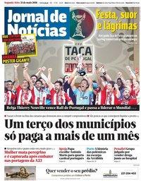 capa Jornal de Notícias de 21 maio 2018