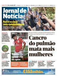 capa Jornal de Notícias de 21 setembro 2017