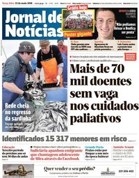 capa Jornal de Notícias de 22 maio 2018