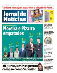 capa Jornal de Notícias de 22 setembro 2017