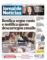capa Jornal de Notícias de 22 dezembro 2017