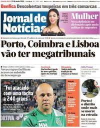 capa Jornal de Notícias de 23 maio 2018