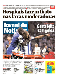 capa Jornal de Notícias de 24 setembro 2017
