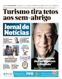 capa Jornal de Notícias de 24 dezembro 2017