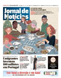 capa Jornal de Notícias de 25 dezembro 2017