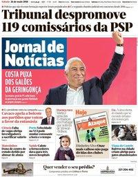 capa Jornal de Notícias de 26 maio 2018