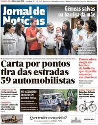 capa Jornal de Notícias de 28 maio 2018