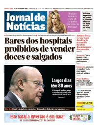 capa Jornal de Notícias de 28 dezembro 2017