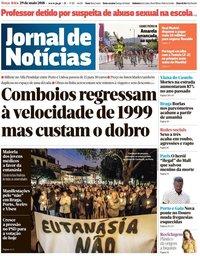 capa Jornal de Notícias de 29 maio 2018