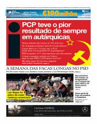 capa Jornal i de 3 outubro 2017