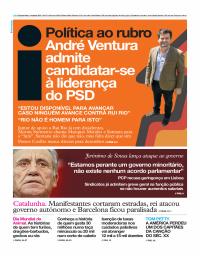 capa Jornal i de 4 outubro 2017