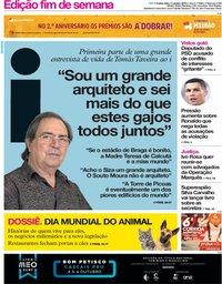 capa Jornal i de 4 outubro 2018