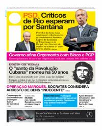 capa Jornal i de 9 outubro 2017