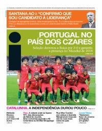 capa Jornal i de 11 outubro 2017