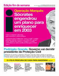 capa Jornal i de 13 outubro 2017