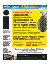 capa Jornal i de 19 outubro 2017