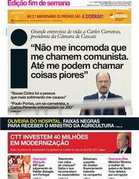 capa Jornal i de 19 outubro 2018