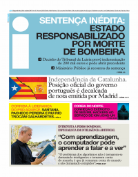 capa Jornal i de 30 outubro 2017