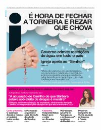 capa Jornal i de 31 outubro 2017
