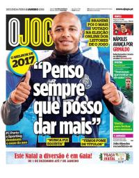 capa Jornal O Jogo de 1 janeiro 2018