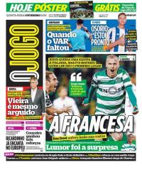capa Jornal O Jogo de 1 fevereiro 2018