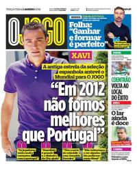 capa Jornal O Jogo de 2 janeiro 2018