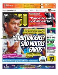 capa Jornal O Jogo de 3 fevereiro 2018