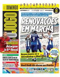 capa Jornal O Jogo de 3 setembro 2017