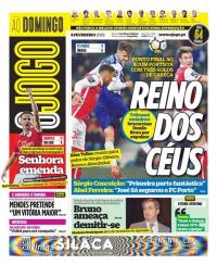capa Jornal O Jogo de 4 fevereiro 2018