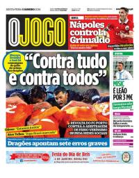 capa Jornal O Jogo de 5 janeiro 2018